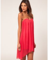 ASOS Collection  Strapless Dress pink - Lyst