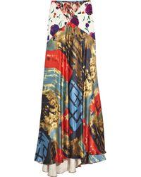 Duro Olowu - Patchwork Printed Silk Maxi Skirt - Lyst