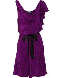 Gryphon - Belle Printed Mini Dress - Lyst