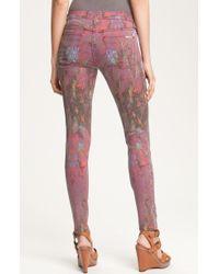 Hudson Printed Skinny Leg Jeans - Lyst