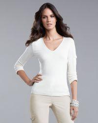 St. John Yellow Label   Pocket-Sleeve T-shirt   Lyst