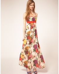 Ted Baker Floral Maxi Dress - Lyst