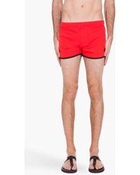 Y-3 - Red Retro Swim Shorts - Lyst
