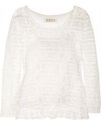 Textile Elizabeth and James Bennet Lace Top - Lyst