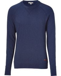 Burberry Brit Ink Crew Neck Sweater - Lyst