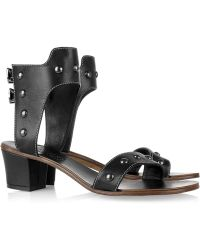Bernardo Joust Studded Leather Sandals - Lyst