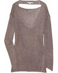 Duffy Open-knit Linen Sweater - Lyst