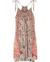 Isabel Marant Vick Printed Silk-georgette Dress - Lyst