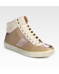 Jimmy Choo Belgravi High-top Sneakers - Lyst