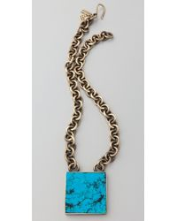 Kelly Wearstler - Turquoise Pendant Necklace - Lyst