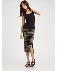 Rogan Abstract Print Midi Skirt - Lyst