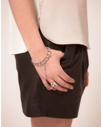 ASOS Collection Asos Pyramid Chain Hand Harness - Lyst