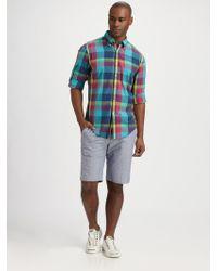 Gant Rugger Madras Sportshirt - Lyst