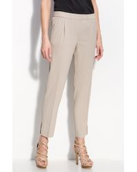 Valette | Camber Pleated Pull-on Ankle Trousers | Lyst