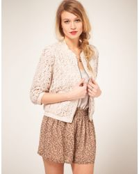 Darling - Darling Lace Bomber Jacket - Lyst