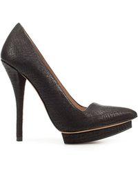 Zara High Heel Platform Court Shoe - Lyst