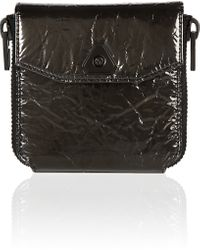 Alexander Wang Black Trigone Compact Wallet with Black Harware - Lyst