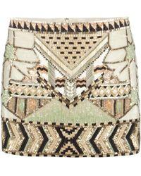 AllSaints Newaz Skirt beige - Lyst