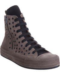 Ann Demeulemeester High Top Grommet Sneaker - Lyst