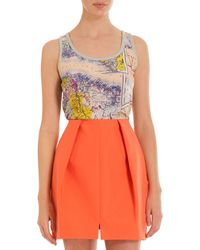 Carven Map Tank - Lyst