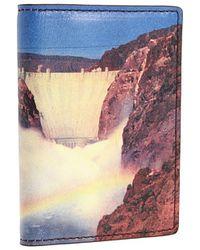 Jack Spade Postcard Printed Leather Hoover Dam Vertical Flap Wallet - Lyst