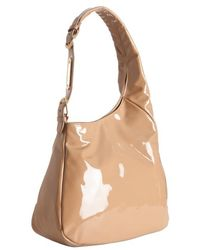 Jimmy Choo Nude Patent Leather Thelma Hobo - Lyst
