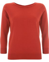 Margaret Howell - Coral Button Back Merino Jumper - Lyst