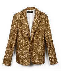 Zadig & Voltaire Jacket Virginie Doree A Sequins gold - Lyst