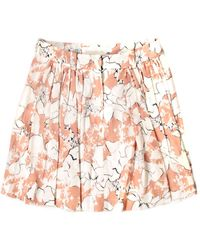 Cacharel Pink Crepe Skirt - Lyst