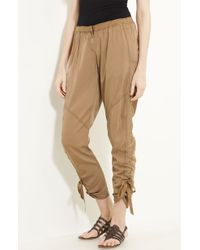 Donna Karan New York Collection Skinny Leg Twill Pants - Lyst