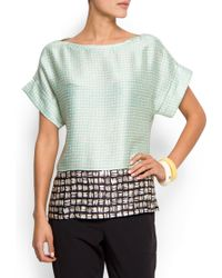 Mango Relaxed-Fit Printed T-shirt - Lyst
