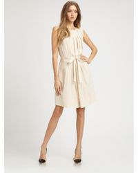 Marc By Marc Jacobs Pleated Silk Crepe-de-chine Dress - Lyst
