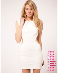 ASOS Collection Asos Petite Exclusive Dress with Cut Out Sides and Pleat Neck Detail - Lyst