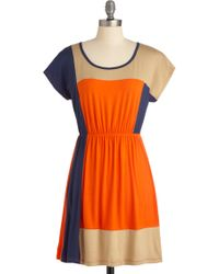 ModCloth Complementary Colorblock Dress - Lyst