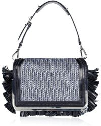 Theyskens' Theory - Tweed and Leather Shoulder Bag - Lyst
