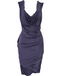 Vivienne Westwood Red Label Corseted Draped Satin-jersey Dress - Lyst