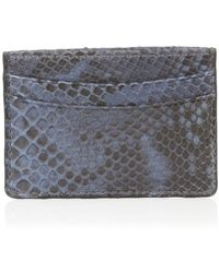 Zagliani - Python Credit Card Holder - Lyst