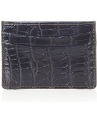 Zagliani - Crocodile Credit Card Holder - Lyst