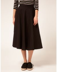 ASOS Collection | Asos Fit and Flare Midi Skirt | Lyst