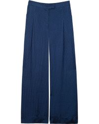 Elizabeth And James Evelyn Pin Dot Wide Leg Pants - Lyst