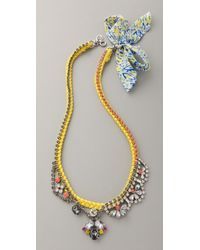 Juicy Couture - Macrame & Rhinestone Necklace - Lyst