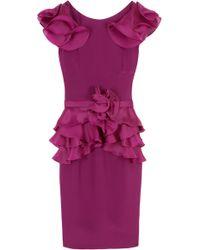 Notte by Marchesa Organza Ruffle Dress - Lyst