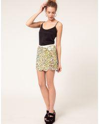 River Island Multi Sequin Mini Skirt - Lyst