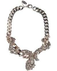 Roberto Cavalli Flower and Snake Necklace animal - Lyst