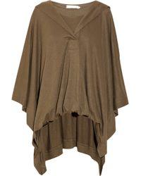 Donna Karan New York Linen-blend Jersey Poncho-style Top - Lyst