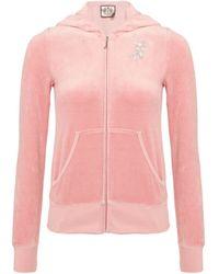 Juicy Couture Velour Hooded Sweatshirt - Lyst