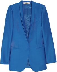 Stella McCartney Elliot Wool and Silk-blend Jacket blue - Lyst