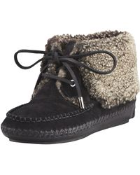 Tory Burch Nathan Flat Shearling Bootie - Lyst
