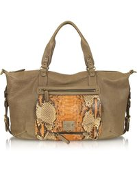Abaco - Odelia Large Python Leather Tote - Lyst