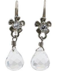 Juicy Couture Flower Drop Earring - Lyst